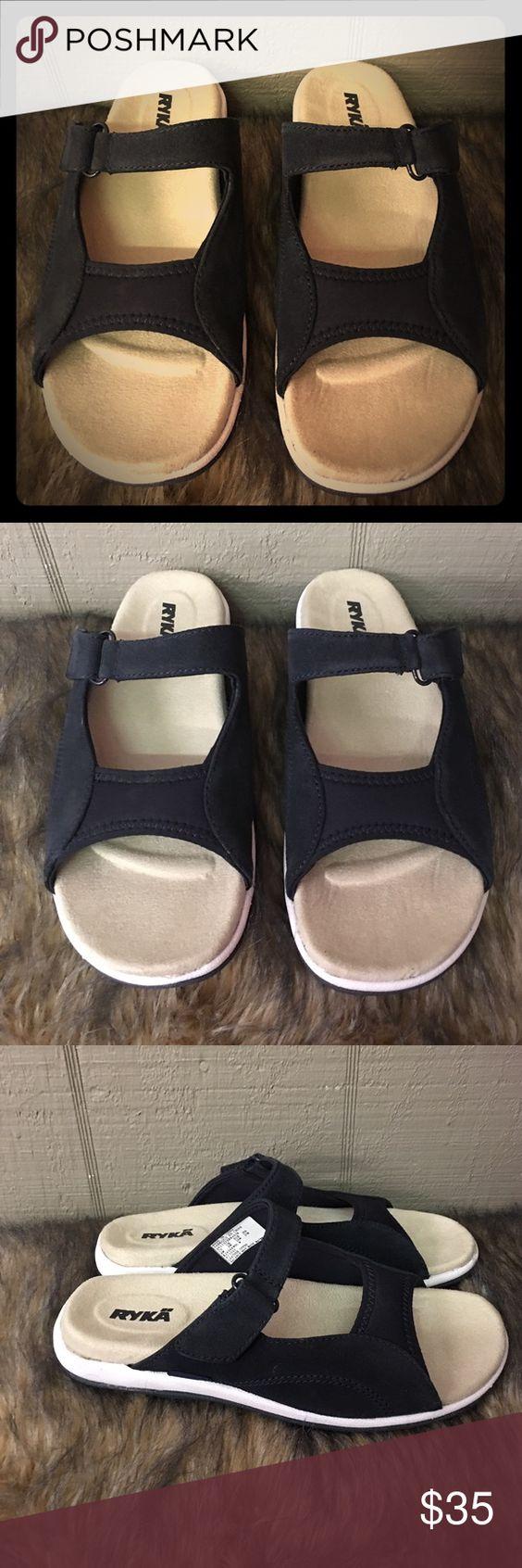 Ryka sandals shoes - Ryka Navy 8w Slip On Sandals Ryka Navy 8w Slip On Sandals Ryka Shoes Sandals
