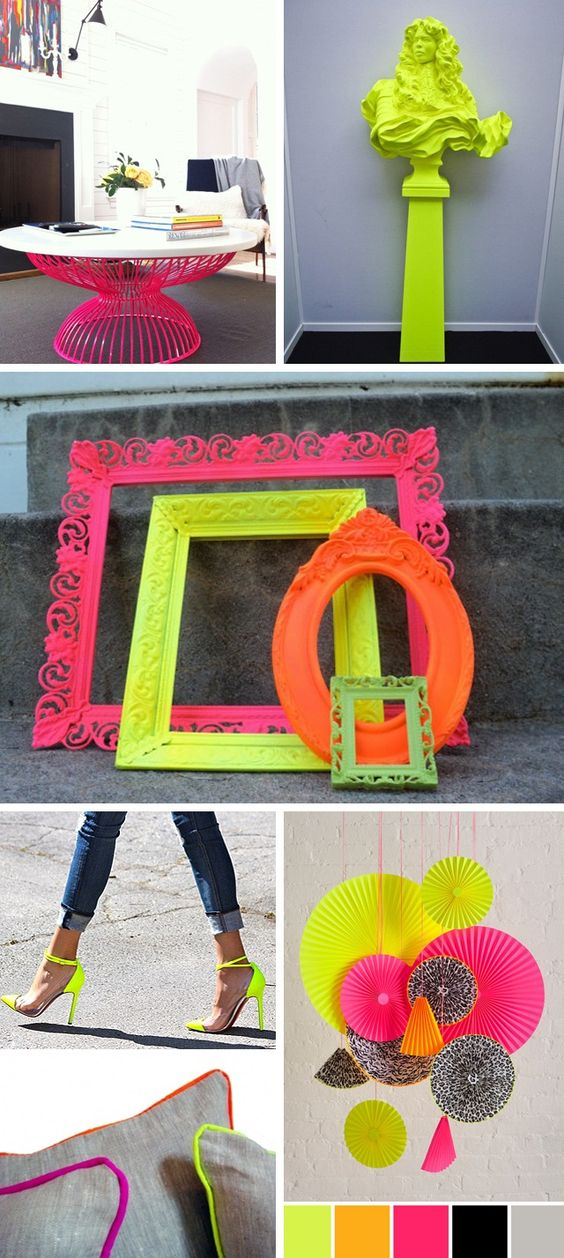 Spray Paint a couple frames to use as decorations and pictures...