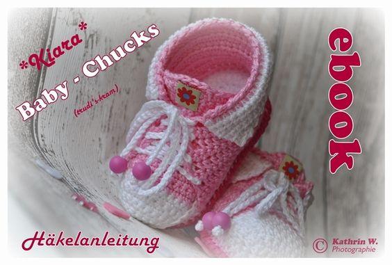 Häkelanleitungen - DIY - E-Book Baby-Schuhe Häkelanleitung - ein Designerstück von trudis-kram bei DaWanda