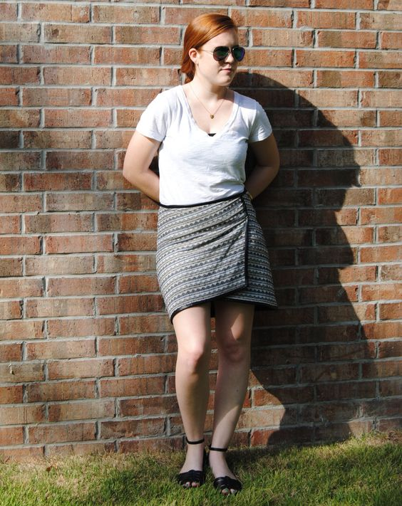 Full look with asymmetrical skirt -- stripedflats.com #stripedflats #blog #style #styleblog