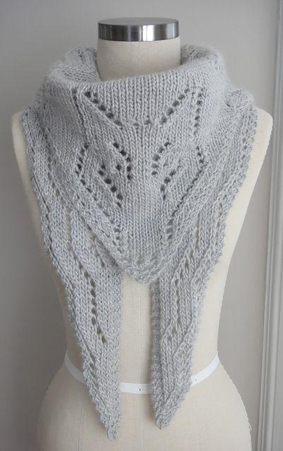 Knitting Shawl Design : Arctic foxy wolf shawl pattern fox knitting patterns many free at http