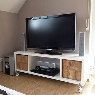 ikea kallax tv furniture entertainment centers pinterest tvs tv bench and tv furniture. Black Bedroom Furniture Sets. Home Design Ideas