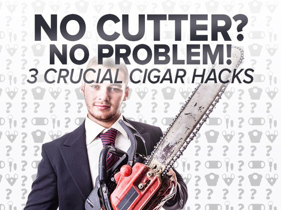 HOW TO CUT A CIGAR WITHOUT CUTTER