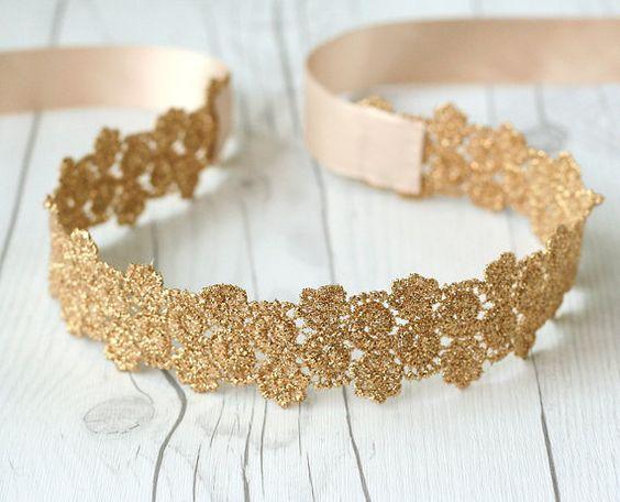 Bridal Sash Wedding Belt GOLD Sash Bridesmaid Gift by MuseBell