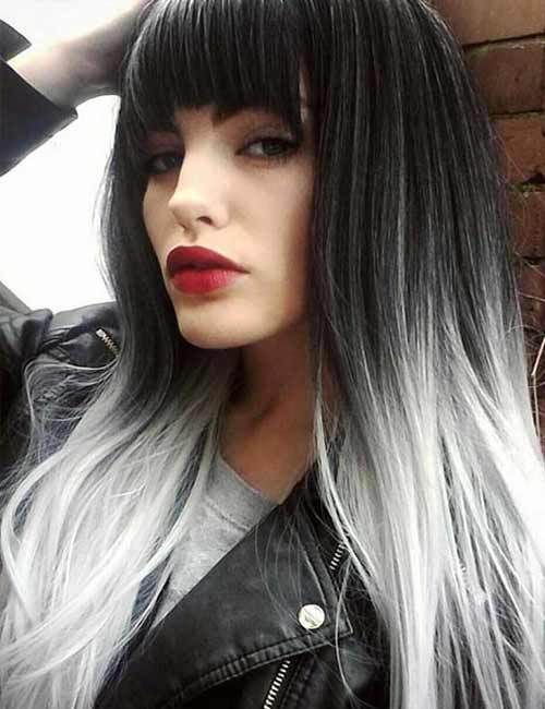45 Stunning Hair Color Trends For Girls Hairstylesvila Grey Ombre Hair Hair Styles Grey Hair Color