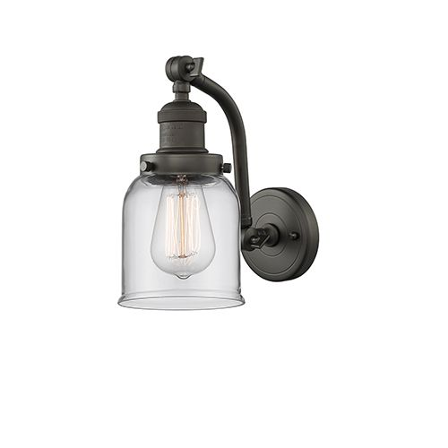 Innovations Lighting Small Bell Oiled Rubbed Bronze 12 Inch One Light Wall Sconce With Clear Bell Glass 515 1w Ob G52 Sconces Vintage Led Bulbs Wall Sconce Lighting