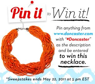 "Pin it to Win it!  Necklace by ""Doncaster"""