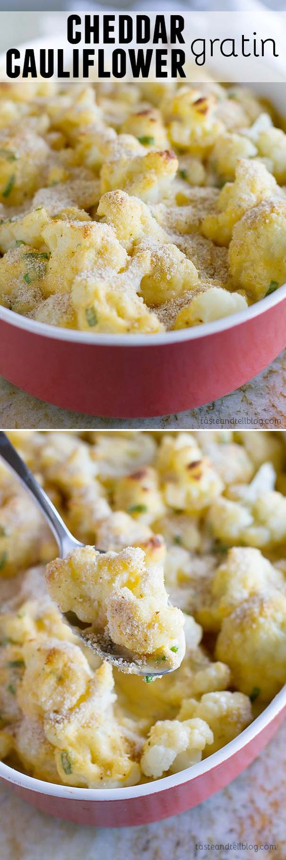 Cauliflower gratin, Creamy cheese and Gratin on Pinterest