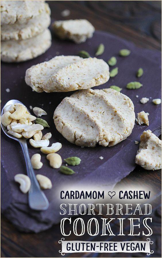 Trinity's Conscious Kitchen - Cardamom & Cashew Shortbread Cookies – gluten-free, vegan