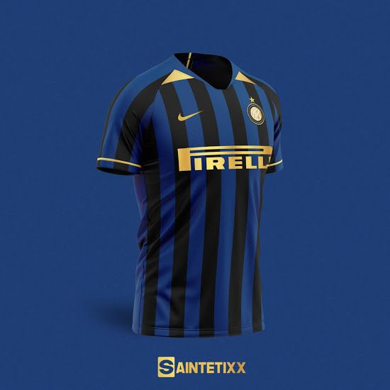 Classy Nike Inter Milan 20 21 Concept Kits By Saintetixx Footy Headlines In 2020 Soccer Shirts Inter Milan Milan
