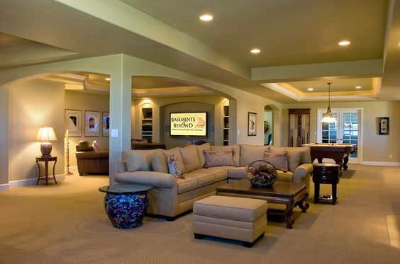 Open Basement Basement Floor Plans And Arches On Pinterest
