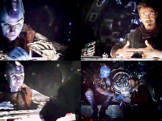 Tony and Nebula in space #avengersendgame