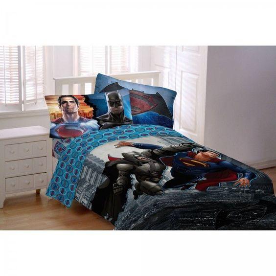 Batman Vs Superman Comforter Worlds Finest Reversible Batman Vs Superm Twin/Full #WarnerBrothers