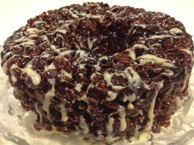 Receta de Pastel de Cornflakes con Chocolate
