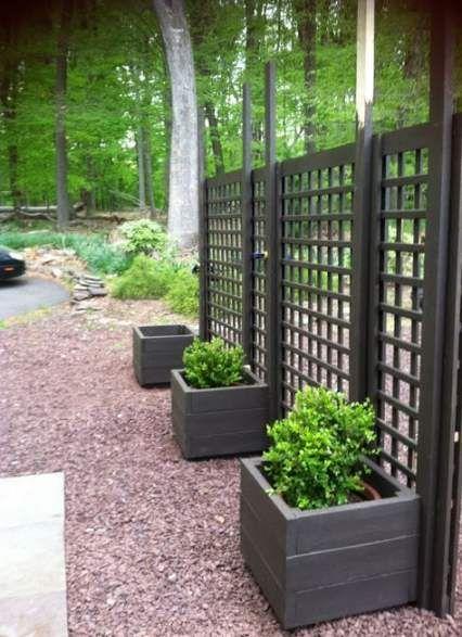 Privacy Screen Outdoor Deck Projects 23 Ideas Diy Garden Trellis Stone Landscaping Diy Garden Fence