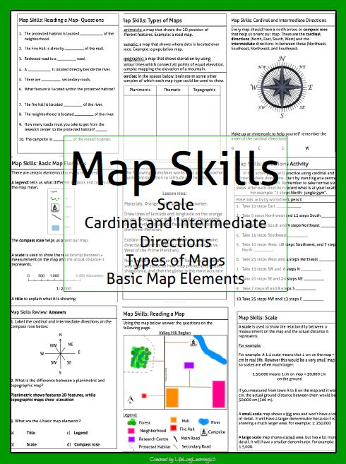 Printables Types Of Maps Worksheets different types activities and of on pinterest this package contains a variety handouts worksheets lesson idea an