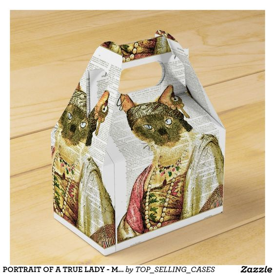 PORTRAIT OF A TRUE LADY - MEOW MEOW! FAVOR BOX