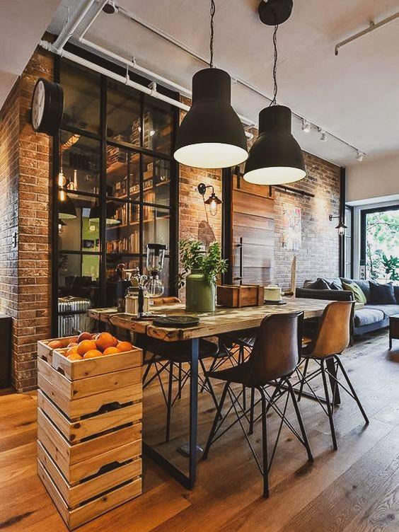 Ideias Para Decorar No Estilo Industrial Vintage A Casa Delas Interiores De Casas Projeto De Loft Casa Contemporanea