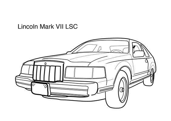 Lincoln marc vii lsc coloring page coloring pages for Lincoln coloring pages