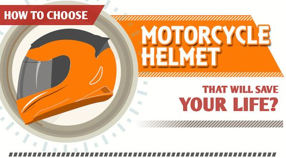 """The infographics """"How to choose a motorcycle helmet"""" shows you how to pick the best bike helmet that could save your life."""
