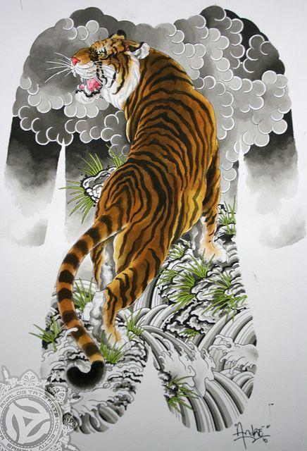 hình xăm con hổ đẹp