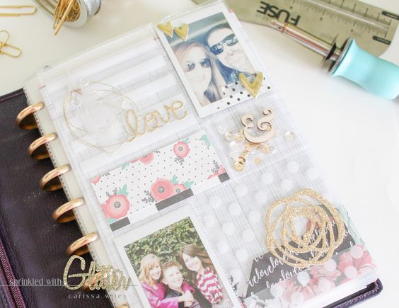 Sprinkled With Glitter: Planner Dashboard - We R Memory Keepers Fuse Tool