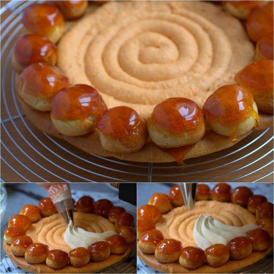 St. Honore Cake Tutorial {click link for FULL recipe & Tutorial}