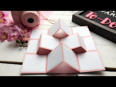 مطوية براويز الصور المنبثقة مطويات ٢٠١٩ Mini Album Pop Up Youtube Christmas Card Ornaments Card Sketches Templates Diy Book