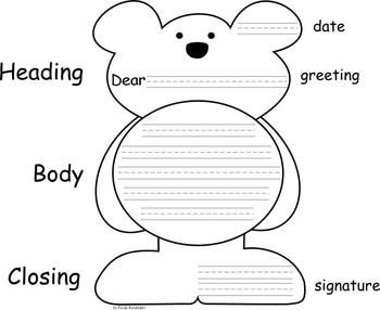 I made this bear writing form for the kindergarten teachers at my ...