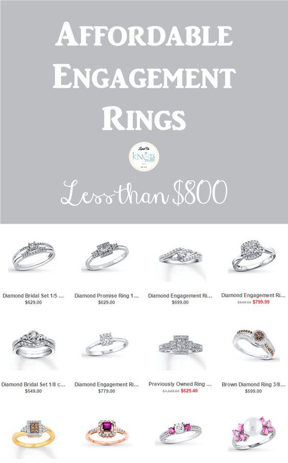 Affordable Engagement Rings | Less Than $800 - KnotsVilla