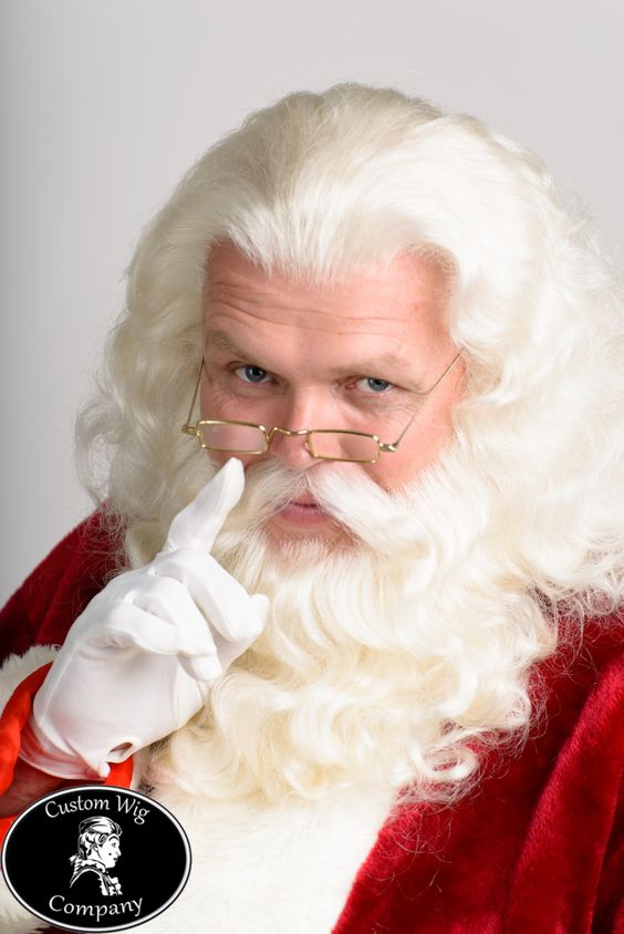 Custom Human Hair Santa Wig Beard And Mustache For Santa