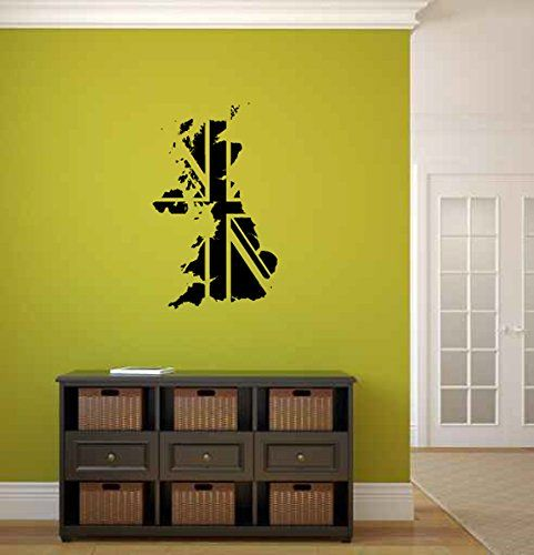 Map Of Great Britain British England Flag Vinyl Wall Words Decal - Custom vinyl wall decals groupon