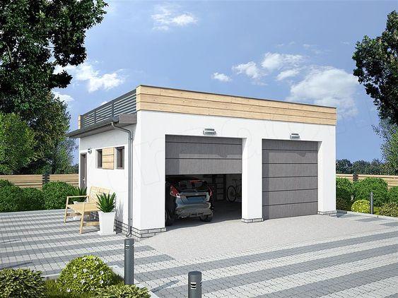 projekt G330K - garaż w granicy SLN2399