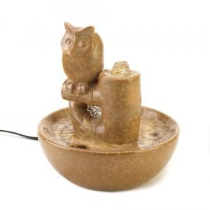 #15117 PERCHED OWL FOUNTAIN by sensationaldecorandmore