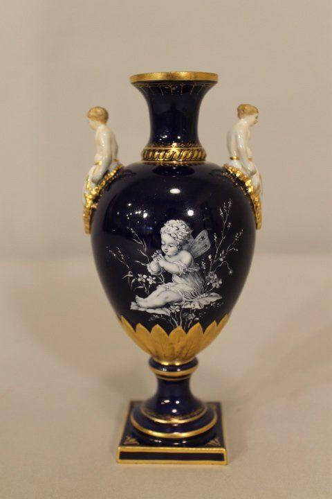 Meissen Vase Lot 8 Meisson Porcelain Figurines Pinterest