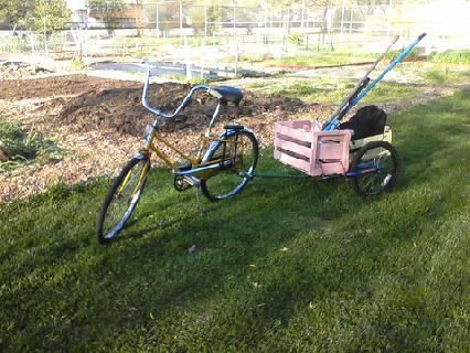 How to make a bike cart from various objects