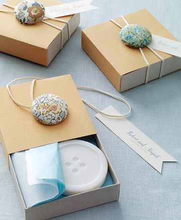 Button and elastic wrapping.