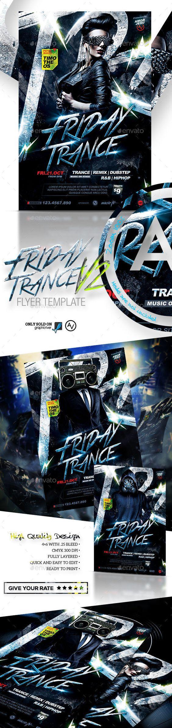 Friday Trance Flyer Template V2