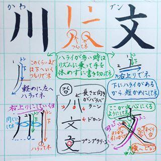 小1で習う漢字 川 文 画数が少ない文字ほど リズムに乗って元気