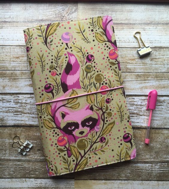 Field Note Fabric Travelers Notebook Fauxdori by EastandRory - field note