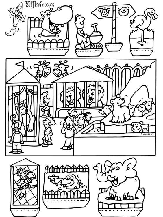 dierentuin kijkdoos knutselpagina nl knutselen