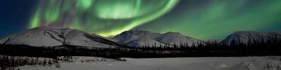 would love to travel to alaska to see the aurora borealis. ideally travel across alaska by train to see all the sights.