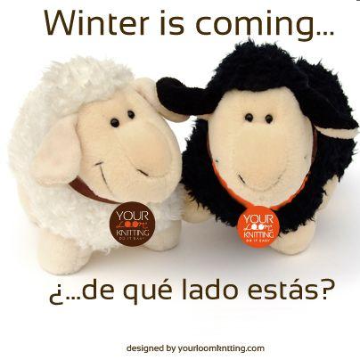 Winter is coming... ¿y tú que eres? white or black? #KnittingRevolution #KnittingFactory #KnittingAddict