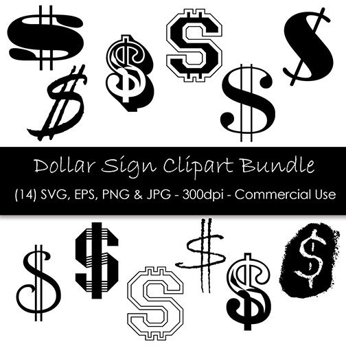 Dollar Sign Svg Bundle Dollar Sign Clip Art Dollar Sign Etsy Dollar Sign Tattoo Dollar Sign Money Sign Tattoo