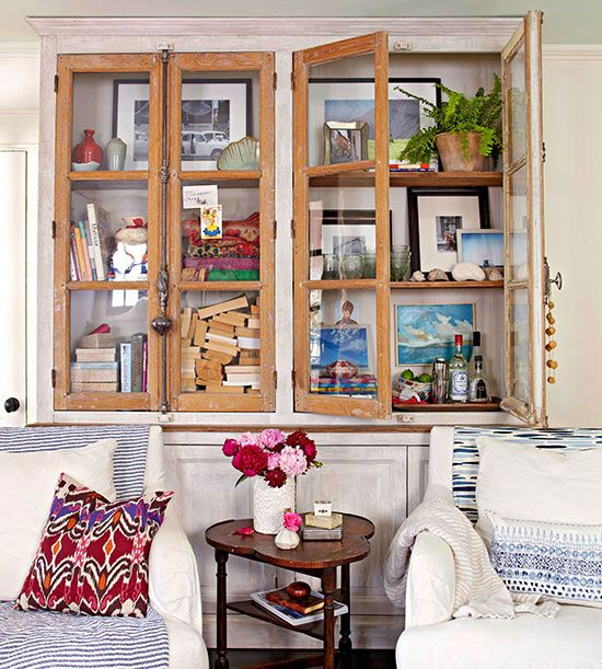 Terrific Decorating A Small House On A Budget Glasses Cabinets And Glass Largest Home Design Picture Inspirations Pitcheantrous