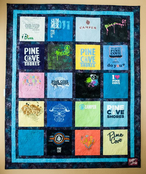 T-shirt quilts by Risa