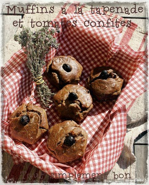 Muffins � la tapenade et tomates confites.