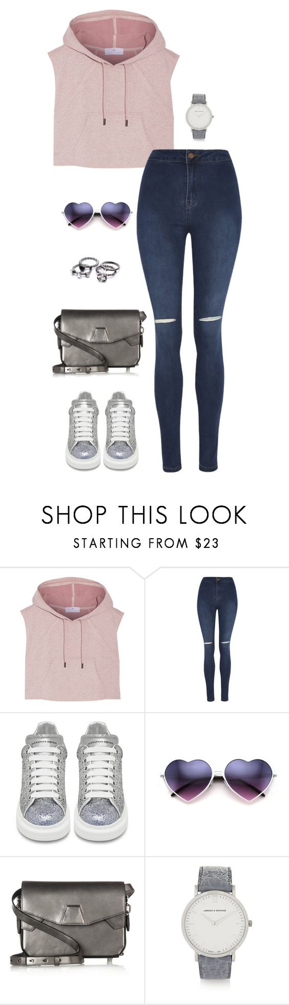 """""""Untitled #3374"""" by meandelstyle ❤ liked on Polyvore featuring adidas, George, Alexander McQueen, Alexander Wang and Larsson & Jennings"""