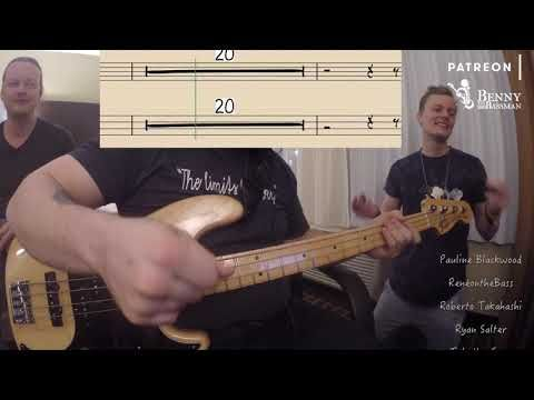 Queen Another One Bites The Dust Bass Cover With Notation