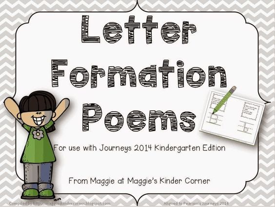 Letter Formation Poems for use with Journeys handwriting lessons ...